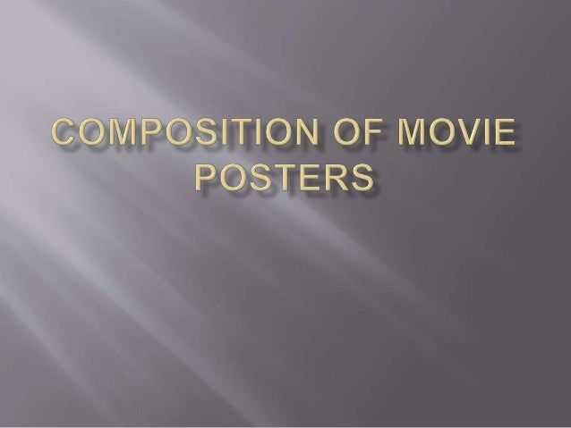 A movie poster follows a certain set of formatting conventions, just like the editing of a movie does. For this task, I wi...