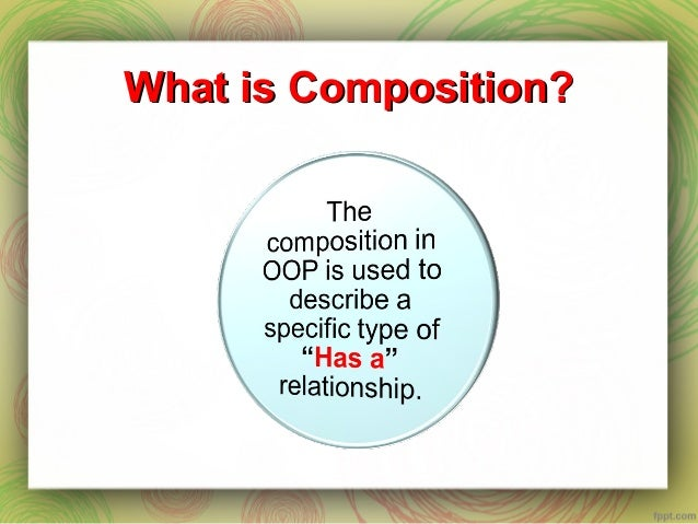 Composition in OOP Slide 3