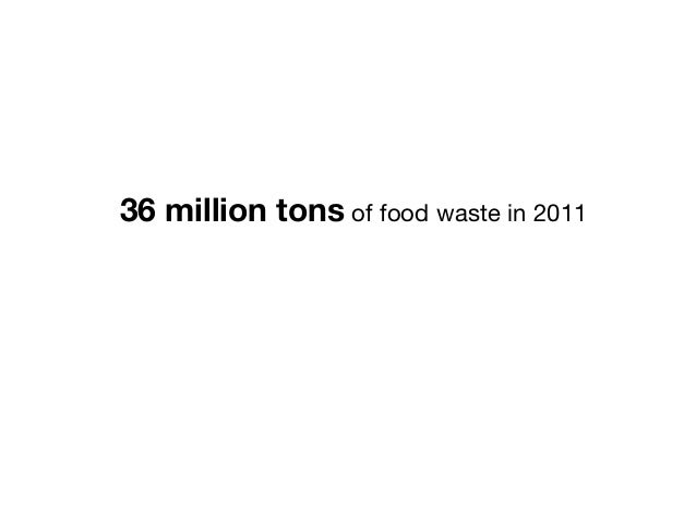 36 million tons of food waste in 2011