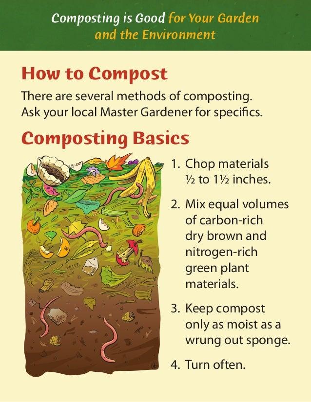 composting is good for your garden. Black Bedroom Furniture Sets. Home Design Ideas