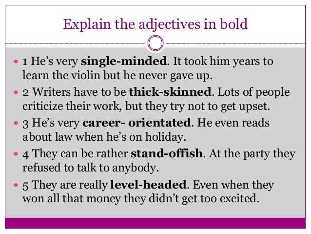 compound adjective Stress is important in pronunciation, as it distinguishes between a compound  noun and an adjective with a noun in compound nouns, the stress usually falls  on.