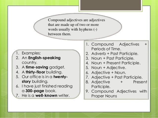 How and why to use compound adjectives.