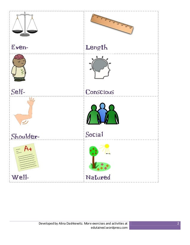Compound Adjectives to Describe Personality and Appearance ...