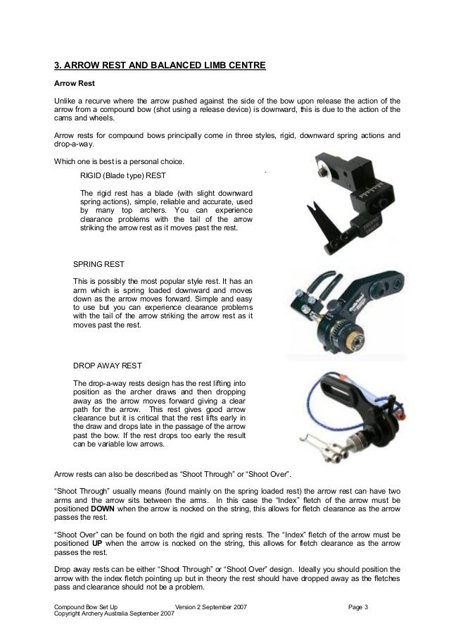 Equipment Set Up Compound Bow