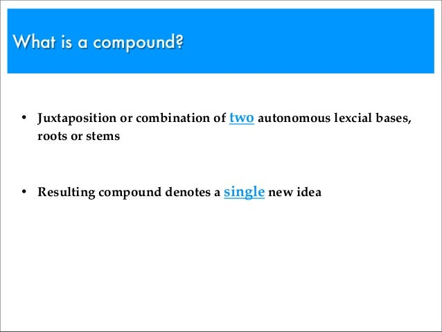Word Compounding