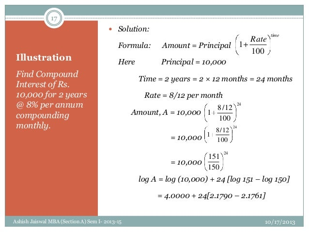 monthly compound interest formula