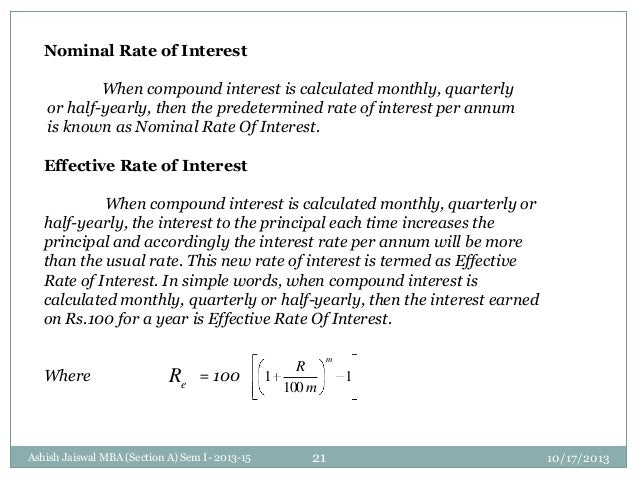 21 nominal rate of interest