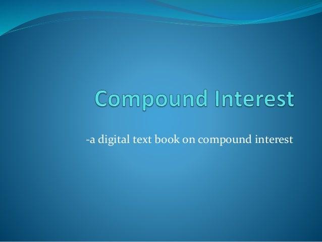 -a digital text book on compound interest