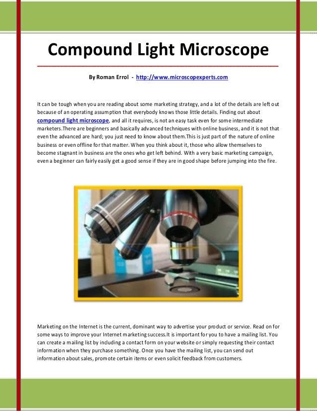 Compound Light Microscope_____________________________________________________________________________________            ...