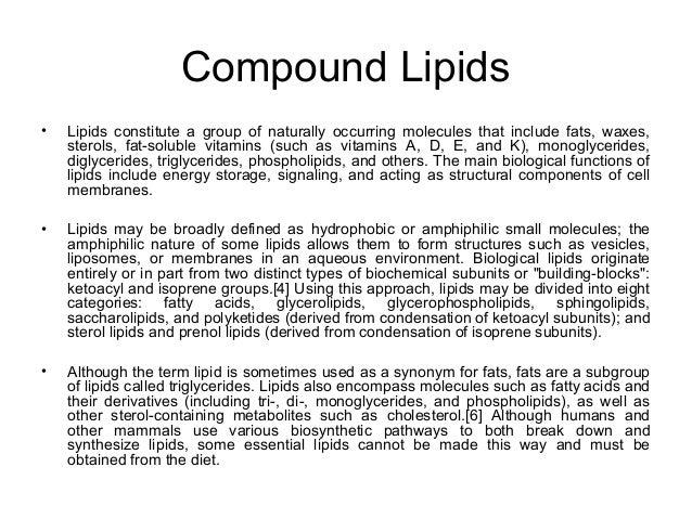 compound lipids