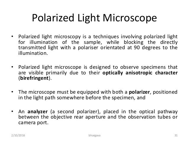 polarized light essay Using a combination of internal conical diffraction and mach-zehnder interferometry we have theoretically and experimentally demonstrated an efficient new technique for the conversion of a linearly polarized gaussian laser beam to one with radial polarization these methods that can be adapted to yield either ring-shaped.
