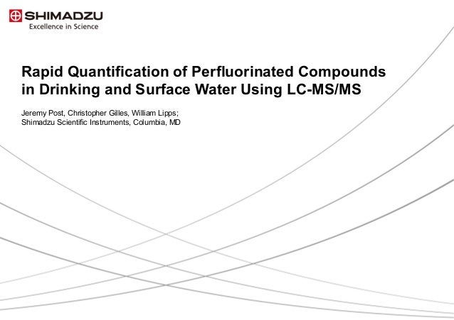 Perfluorinated Compounds Drinking Water