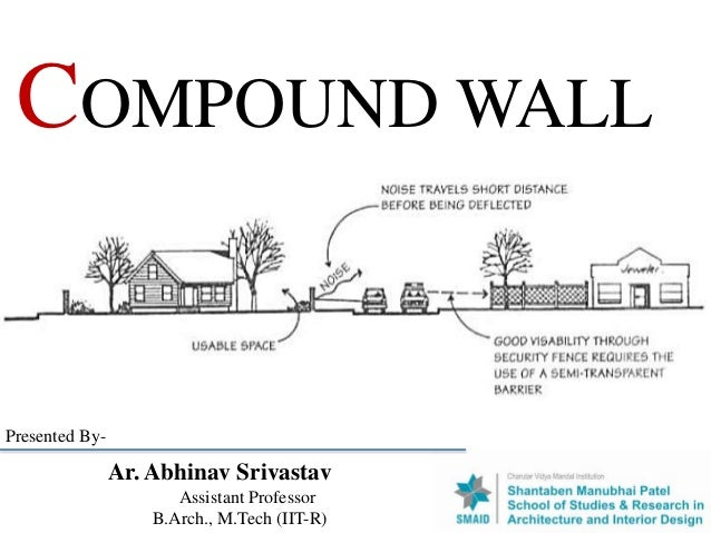 COMPOUND WALL Ar. Abhinav Srivastav Assistant Professor B.Arch., M.Tech (IIT-R) Presented By-