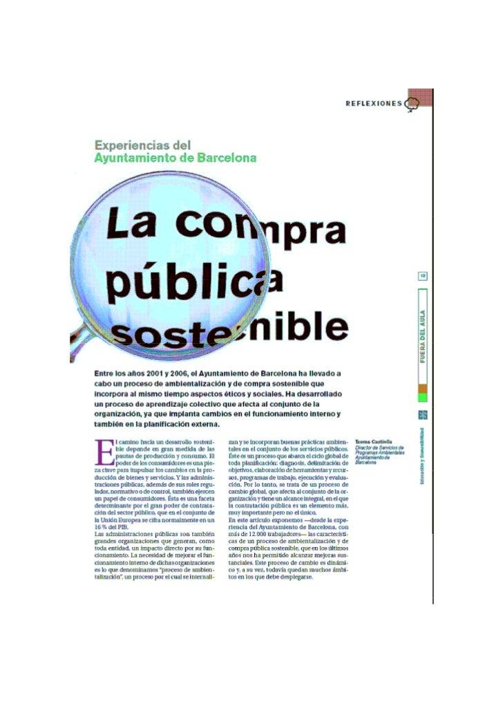 Comprapublicasostenible Ejemplo Ayuntamientodebarcelona