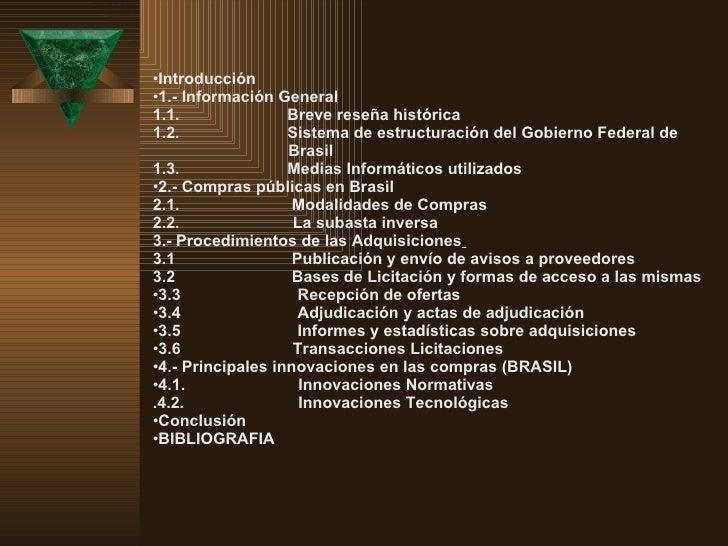 <ul><li>Introducción  </li></ul><ul><li>1.- Información General  </li></ul><ul><li>1.1.  Breve reseñ...
