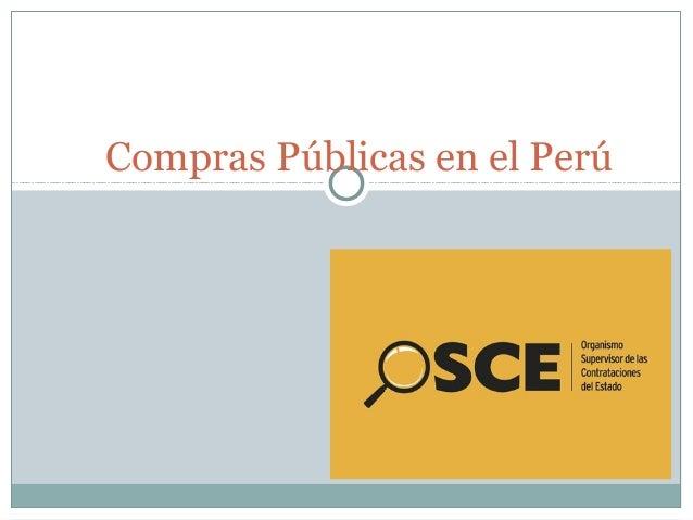 Compras Públicas en el Perú