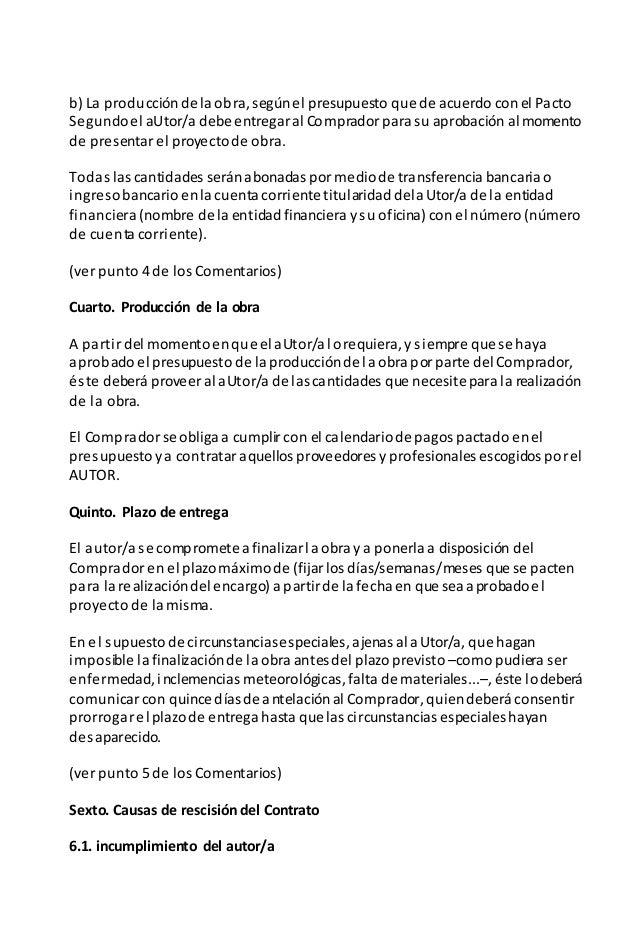 Ejemplo Contrato Compra Venta Obra In Dita