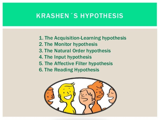krashens hypotheses of second language acquisition essay 1 stephen krashen's theory of second language acquisition ricardo schütz last revision: march 28, 2005 language acquisition does not require.