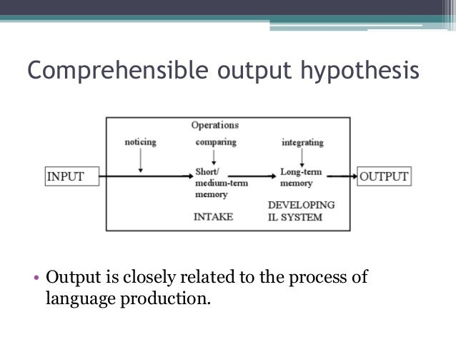 Input hypothesis theory