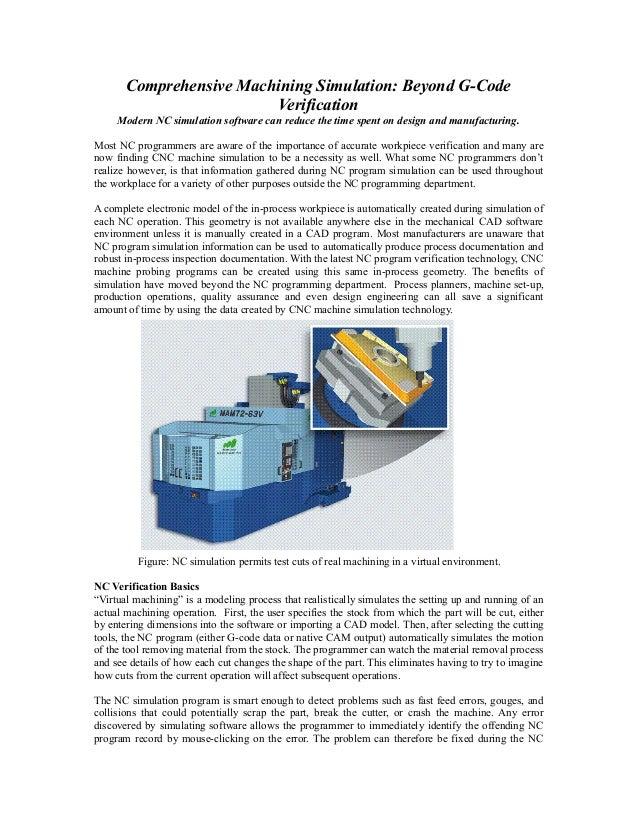 Comprehensive machining simulation beyond g code verification final