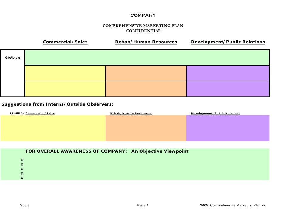 COMPANY                                         COMPREHENSIVE MARKETING PLAN                                              ...