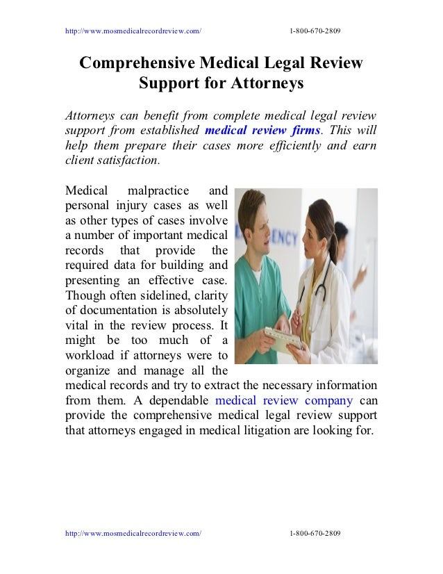 http://www.mosmedicalrecordreview.com/     1-800-670-2809   Comprehensive Medical Legal Review         Support for Attorne...