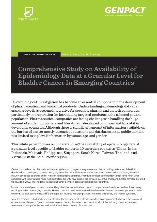 W H I T E PA P E R  SMART D ECI SI O N SERVI CES  Comprehensive Study on Availability of Epidemiology Data at a Granular L...