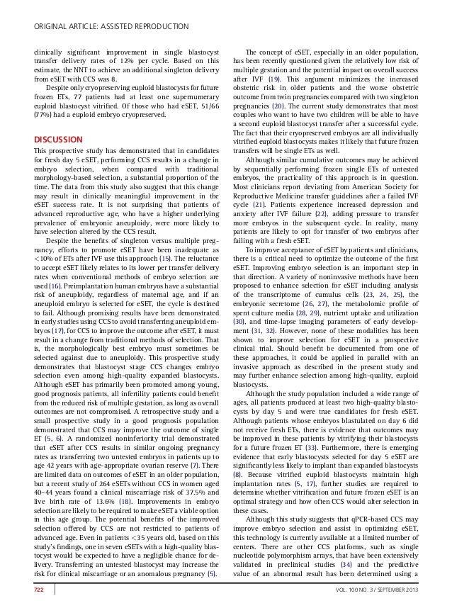 Comprehensive chromosome screeningccs