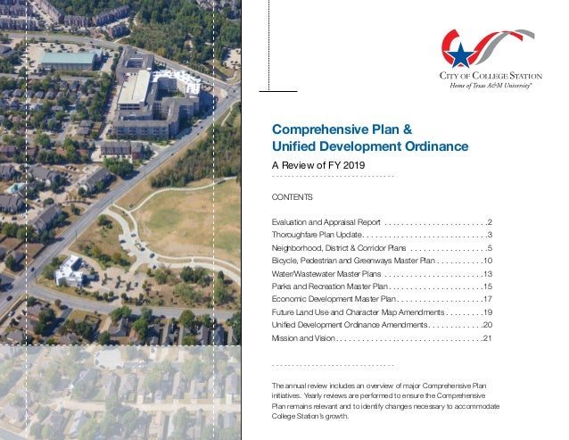 Comprehensive Plan & Unified Development Ordinance A Review of FY 2019 . . . . . . . . . . . . . . . . . . . . . . . . . ....
