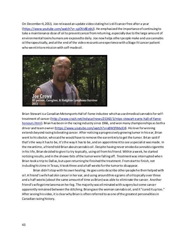 43 On December4,2013, Joe releasedanupdate videostatinghe isstill cancerfree aftera year (https://www.youtube.com/watch?v=...