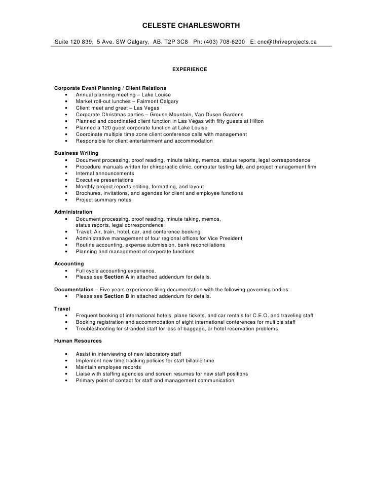 Comprehensive Resume. CELESTE CHARLESWORTH Suite 120 839, 5 Ave. SW  Calgary, AB.