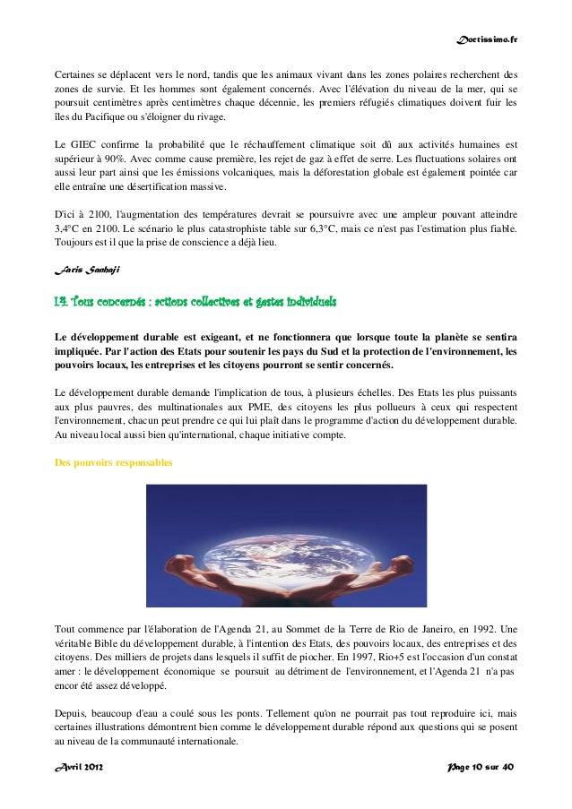 Doctissimo.fr Avril 2012 Page 10 sur 40 Certaines se déplacent vers le nord, tandis que les animaux vivant dans les zones ...