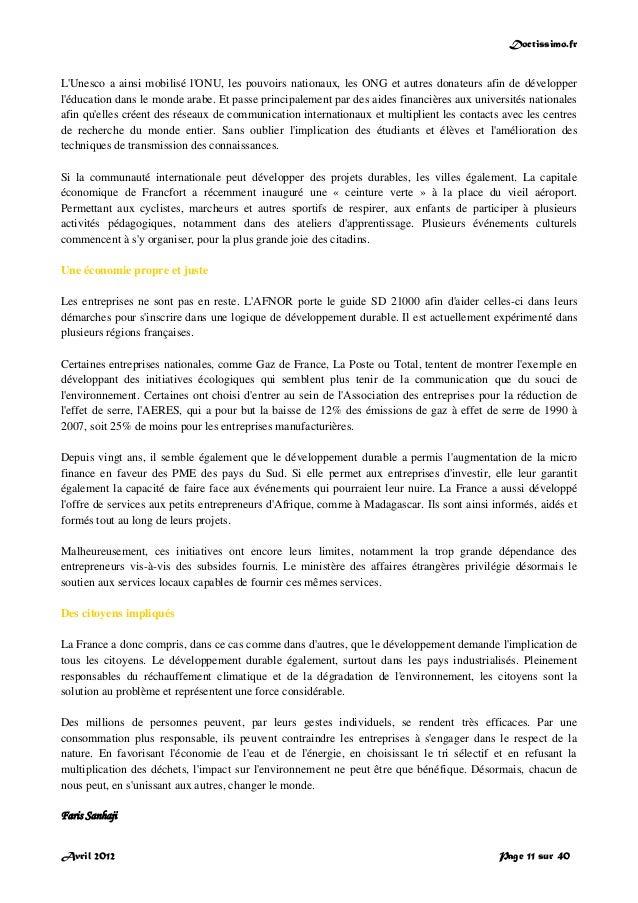 Doctissimo.fr Avril 2012 Page 11 sur 40 L'Unesco a ainsi mobilisé l'ONU, les pouvoirs nationaux, les ONG et autres donateu...