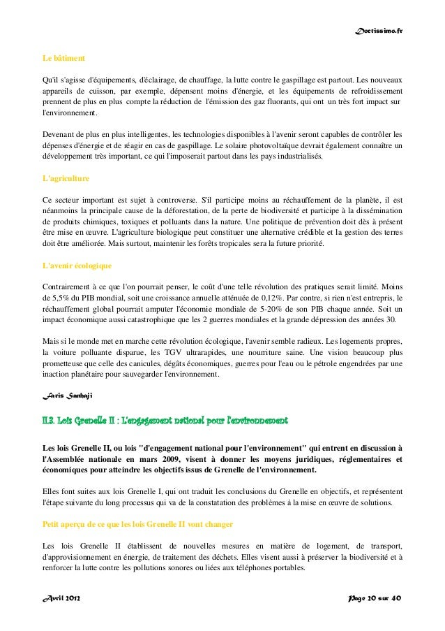 Doctissimo.fr Avril 2012 Page 20 sur 40 Le bâtiment Qu'il s'agisse d'équipements, d'éclairage, de chauffage, la lutte cont...