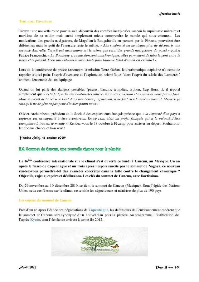 Doctissimo.fr Avril 2012 Page 25 sur 40 Tout pour l'aventure Trouver une nouvelle route pour la soie, découvrir des contré...