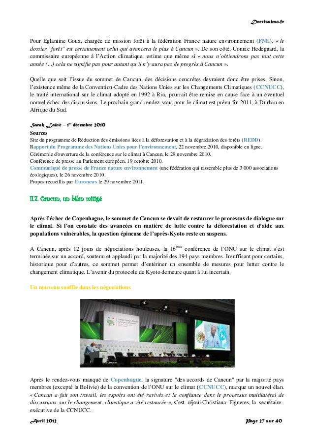 Doctissimo.fr Avril 2012 Page 27 sur 40 Pour Eglantine Goux, chargée de mission forêt à la fédération France nature enviro...