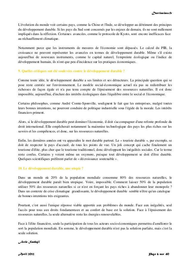 Doctissimo.fr Avril 2012 Page 6 sur 40 L'évolution du monde voit certains pays, comme la Chine et l'Inde, se développer au...