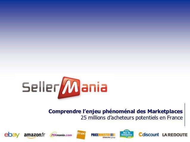 Comprendre l'enjeu phénoménal des Marketplaces          25 millions d'acheteurs potentiels en France