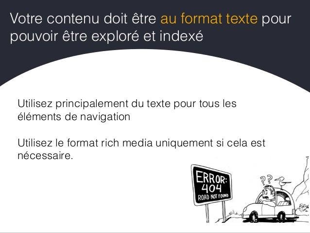 """Utilisez le rel=""""canonical"""" pour déclarer la version canonique de la page Évitez la duplication de contenu Mettez en place..."""