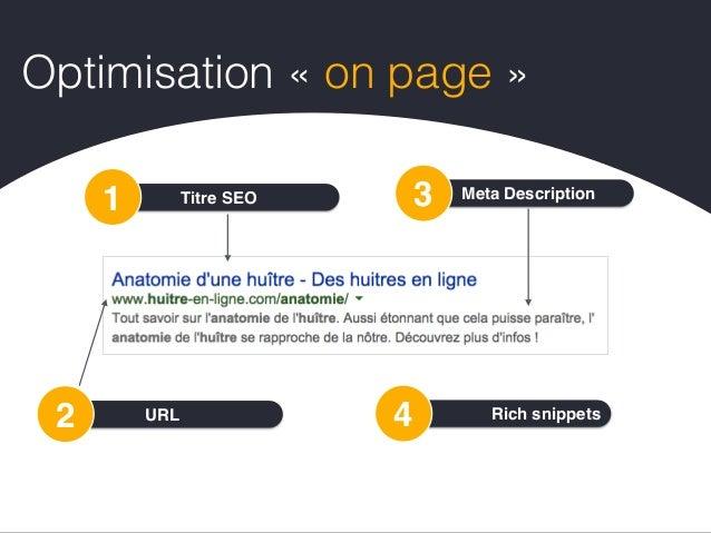 META Description3 • Rédigez une description pouvant à la fois informer et intéresser les utilisateurs • Utilisez des descr...