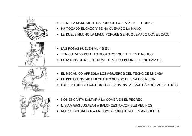 COMPR-FRASE-7 9LETRAS WORDPRESS.COM  TIENE LA MANO MORENA PORQUE LA TENÍA EN EL HORNO  HA TOCADO EL CAZO Y SE HA QUEMADO...