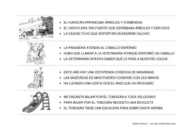 COMPR-FRASE-8 9LETRAS WORDPRESS.COM  EL HURACÁN ARRANCABA ÁRBOLES Y CHIMENEAS  EL VIENTO ERA TAN FUERTE QUE DERRIBABA ÁR...