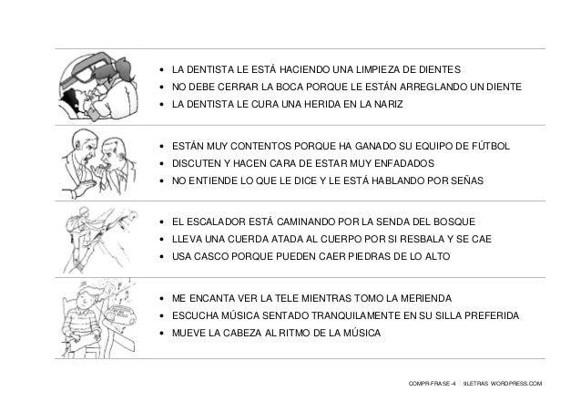 COMPR-FRASE -4 9LETRAS WORDPRESS.COM  LA DENTISTA LE ESTÁ HACIENDO UNA LIMPIEZA DE DIENTES  NO DEBE CERRAR LA BOCA PORQU...