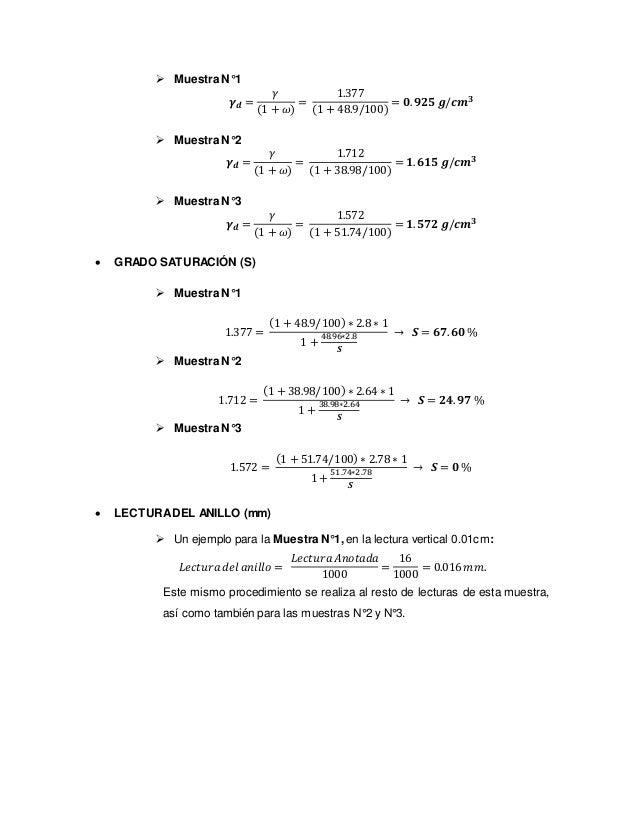  DEFORMACIÓN VERTICAL (𝜹𝒗)  Muestra N°1 Un ejemplo en esta muestra para la lectura vertical de 0.01 cm: 𝜹𝒗 = 𝐿𝑒𝑐𝑡𝑢𝑟𝑎 𝑣𝑒𝑟...