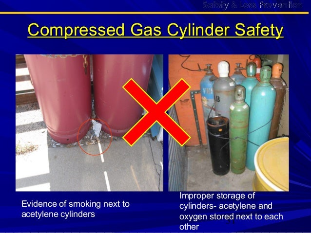 ... Cylinder Safety; 31. 31 Improper storage ...  sc 1 st  SlideShare & Compressd gas