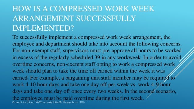 Compressed workweek for Compressed work week proposal template