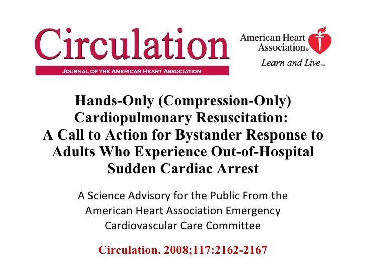 Chest compression-only CPR improves survival in cardiac ...