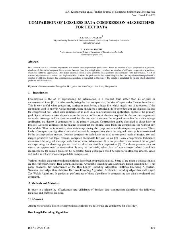 S.R. Kodituwakku et. al. / Indian Journal of Computer Science and Engineering                                             ...