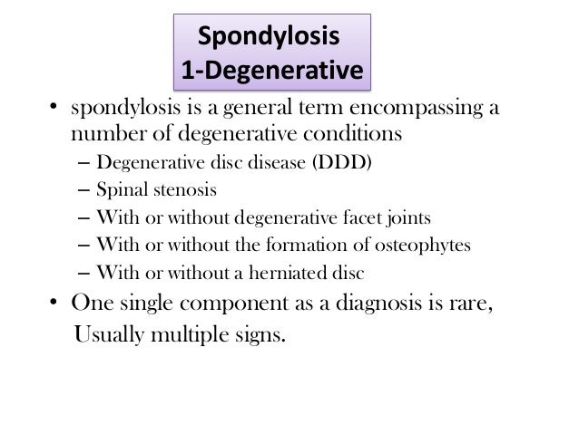 Compressive Spine Disease