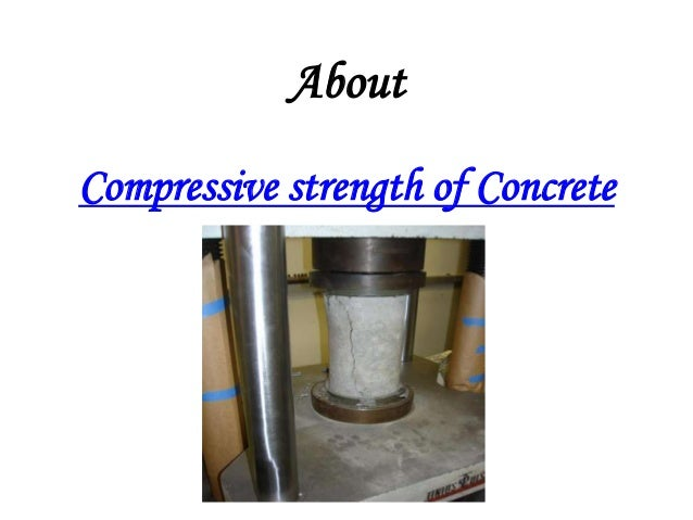 About Compressive strength of Concrete
